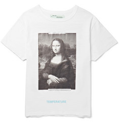 Off-White Mona Lisa Printed Cotton-Jersey T-Shirt