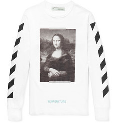 Off-White Mona Lisa Oversized Printed Cotton-Jersey T-Shirt