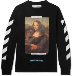 Off-White Mona Lisa Printed Fleece-Back Cotton-Jersey Sweatshirt