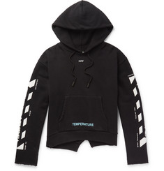 Off-White - Printed Cotton-Jersey Hoodie