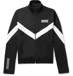 Off-White Striped Jersey Zip-Up Track Jacket