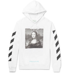Off-White - Mona Lisa Printed Cotton-Jersey Hoodie