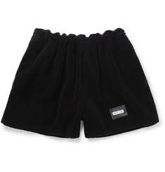 Off-White Towel Volume Wide-Leg Cotton-Terry Shorts
