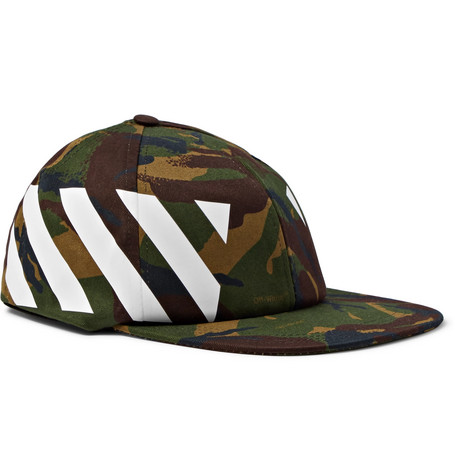 Camouflage Print Stretch Cotton Canvas Cap by Off White