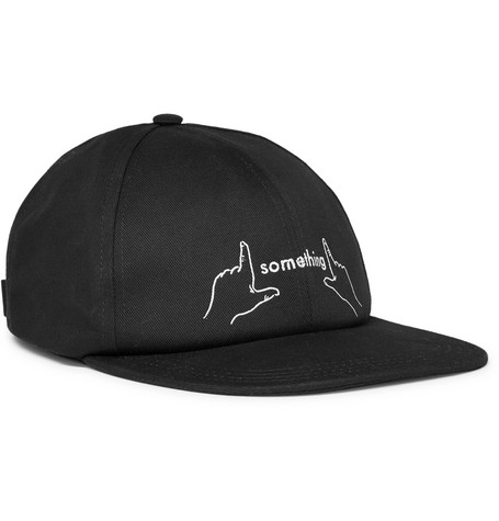 Printed Cotton-canvas Cap - Black