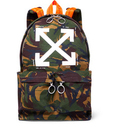 Off-White Camouflage-Print Cotton-Canvas Backpack