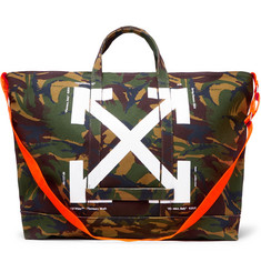 Off-White - Camouflage-Print Cotton-Canvas Tote Bag