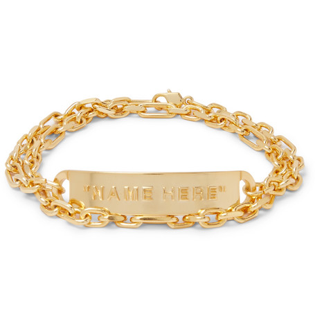 Gold Tone Id Bracelet by Off White