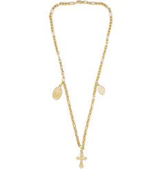 Off-White - Cross Gold-Tone Necklace