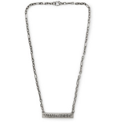Off-White - Burnished Silver-Tone Necklace