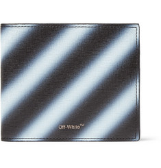 Off-White - Striped Cross-Grain Leather Billfold Wallet