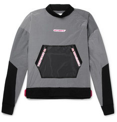 Off-White Mesh-Trimmed Cotton-Blend Shell Jacket
