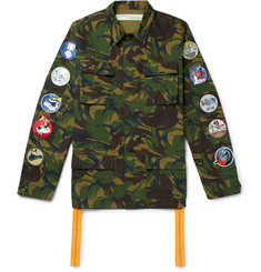 Off-White Appliquéd Camouflage-Print Cotton-Ripstop Field Jacket