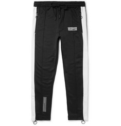 Off-White Slim-Fit Striped Loopback Cotton-Jersey Sweatpants