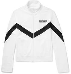 Off-White Striped Cotton-Jersey Zip-Up Track Jacket
