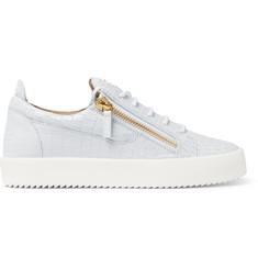 6b425ae5c653b Giuseppe Zanotti Logoball Croc-Effect Leather Sneakers