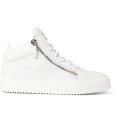 c93c27a901318 Giuseppe Zanotti Logoball Textured-Leather High-Top Sneakers