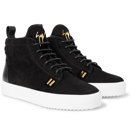 Logoball Nubuck High-top Sneakers Giuseppe Zanotti kMByp8vsKe