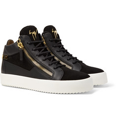 Giuseppe Zanotti - Leather and Suede High-Top Sneakers