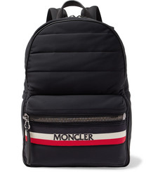 Moncler - New George Webbing and Leather-Trimmed Quilted Shell Backpack