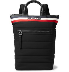 Moncler - Cerro Convertible Webbing and Leather-Trimmed Quilted Shell Tote Bag