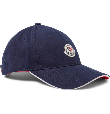 Appliquéd Cotton-twill Baseball Cap - Navy