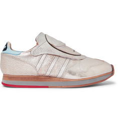 adidas Consortium + Hender Scheme MicroPacer Metallic Textured-Leather Sneakers