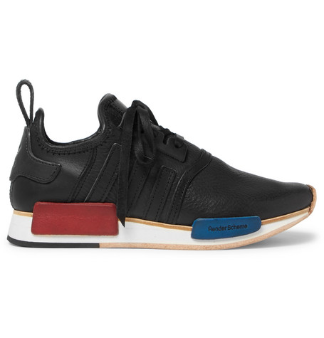2cc4e6511d0d9 Adidas Consortium Hender Scheme Nmd R1 Leather Sneakers In Black