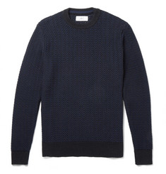 Mr P. Textured Cotton-Blend Sweater