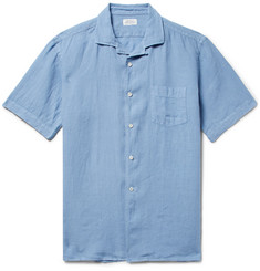 Hartford Palm Pat Camp-Collar Linen Shirt