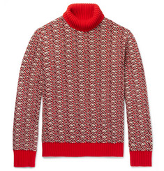Mr P. - Jacquard Wool-Blend Rollneck Sweater