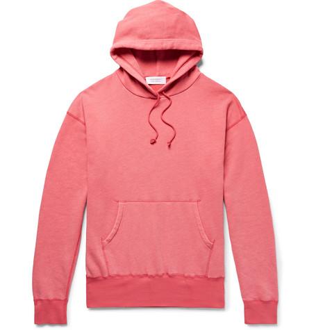 John Elliott Cotton-blend Jersey Hoodie In Red