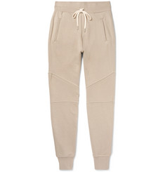 John Elliott Slim-Fit Tapered Panelled Loopback Cotton-Jersey Sweatpants