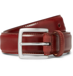 George Cleverley - 3.5cm Cognac Horween Shell Cordovan Leather Belt