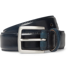 George Cleverley - 3.5cm Dark-Blue Horween Shell Cordovan Leather Belt