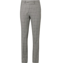 Raf Simons Slim-Fit Prince of Wales Checked Virgin Wool and Mohair-Blend Trousers