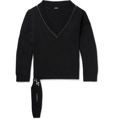 Raf Simons Oversized Embellished Wool Sweater