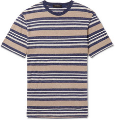 Ermenegildo Zegna - Striped Linen-Blend T-Shirt