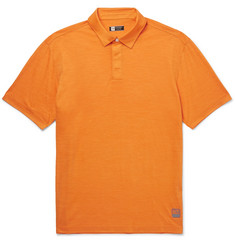 Z Zegna TECHMERINO Wool and Linen-Blend Polo Shirt