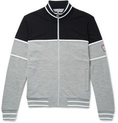 Z Zegna Colour-Block TECHMERINO Wool Zip-Up Sweatshirt