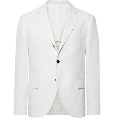 MP Massimo Piombo White Slim-Fit Linen Blazer