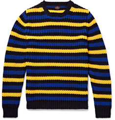 MP Massimo Piombo Hirst Slim-Fit Striped Cotton Sweater