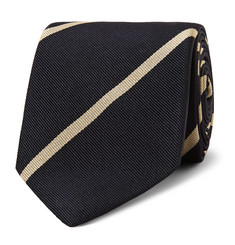 Drake's 7cm Striped Silk-Twill Tie