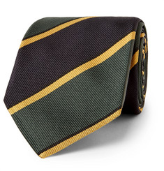 Drake's Easyday 7cm Striped Silk-Twill Tie
