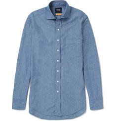 74802375e88 Drake s - Easyday Cutaway-Collar Cotton-Chambray Shirt