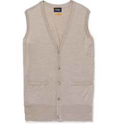 Drake's - Mélange Virgin Wool Sweater Vest