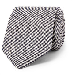 Drake's 8cm Checked Silk Tie