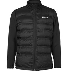 2XU Momentum Jersey-Panelled Perforated Quilted Shell Jacket