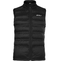 2XU Momentum Jersey-Panelled Perforated Quilted Shell Gilet