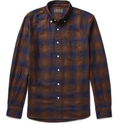 Beams Plus Button-Down Collar Checked Cotton-Flannel Shirt
